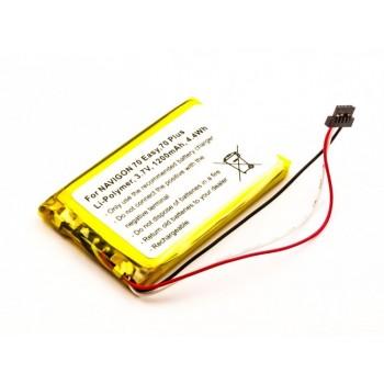 Bateria para GPS Navigon 70 Easy TOPAZ, 3,7V 1200mAh 4,4Wh