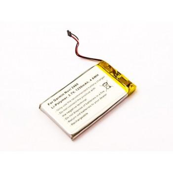 Bateria para GPS Garmin Nuvi 2460, 3,7V 1250mAh 4,6Wh