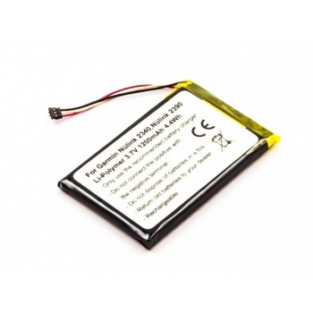 Bateria GPS Garmin Nulink 2340 2390 compatível 3,7V 1200mAh 4.4Wh