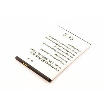 Bateria para Archos 52 Platinum AC52PL, 3,8V 2000mAh 7.6Wh