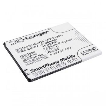 Bateria Lenovo Lemon 3 K32C36 BL259 compatível 3,8V 2.7Ah 10.3Wh