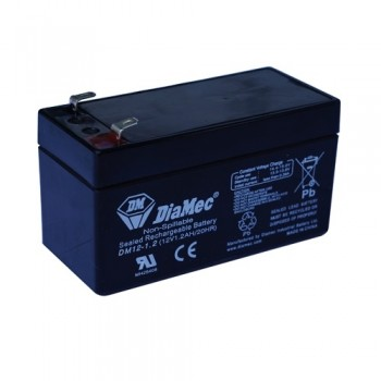 Bateria 12V 1,2Ah (term. F1) Diamec AGM standard