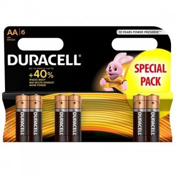 AA (LR06) Pilha Alcalina Duracell Plus Power (6 unid)