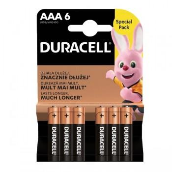 AAA (LR03) Pilha Alcalina Duracell Plus Power (6 unid)