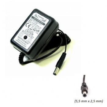 Carregador baterias lítio 4S, 16,8V 1.5A, ficha 5.5x2.5mm