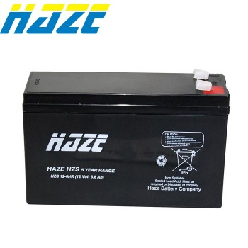 Bateria 12V 6Ah (term. F1) Haze AGM Alta Descarga