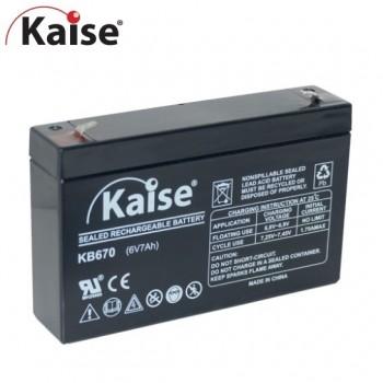 Bateria 6V 7Ah (term. F1) Kaise AGM chumbo