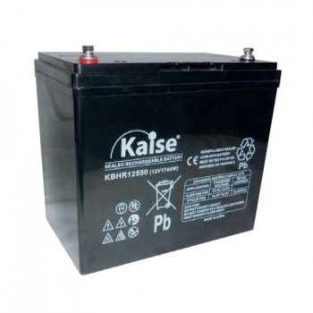 Bateria 12V 55Ah 1740W High Rate (term. M6) Kaise AGM chumbo KBHR12550