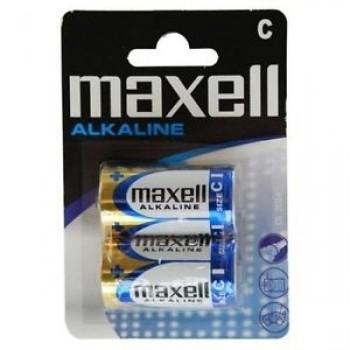 Pilha Alcalina Maxell C, LR14, MN1400, AM2, Mezzia-Torcia, Baby