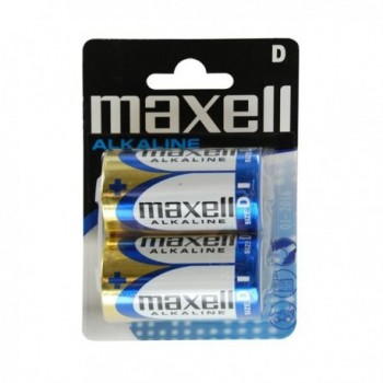 Pilha Alcalina Maxell D, LR20, MN1300, AM1, Mono, Torcia