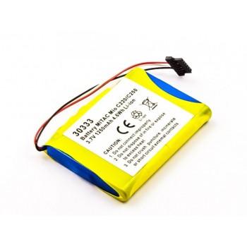 Bateria para Mitac Mio C210 C250, 3,7V 1250mAh 4,6Wh