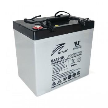 Bateria 12V 55Ah (C10) (term. M6) Ritar AGM standard RA12-55