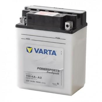 Bateria mota YB14A-A2 12V 14Ah Varta alta performance 134x89x176mm +/-