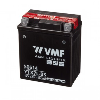 Bateria mota YTX7L-BS 12V 6Ah VMF alta performance 112x70x130mm -/+