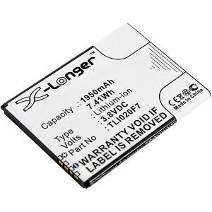 Bateria Alcatel One Touch 4 5.0 TLI020F7 compatível 3,8V 1950mAh 7,4Wh