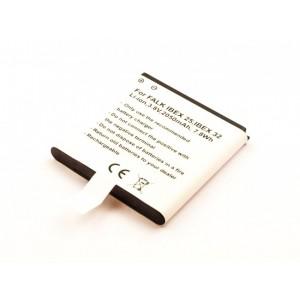 Bateria para GPS Falk IBEX 25, 3,8V 2050mAh, 7,8Wh