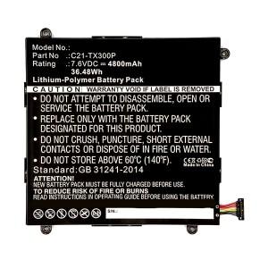 Bateria Asus Transformer Book TX300CA C21-TX300P compatível 7,6V 4800mAh 36.48Wh
