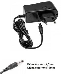 Transformador carregador Bosch 00754639 compatível 22V 0,5A ponteira 5,5x2,5mm