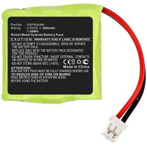 Bateria JAY Wilpa 1035 compatível 3,6V 300mAh 1,08Wh
