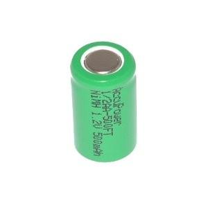 1/2 AA elemento NiMH (1,2v 500mAh)