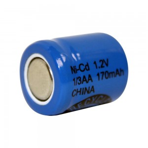 1/3 AA elemento NiCd (1,2v 170mAh)