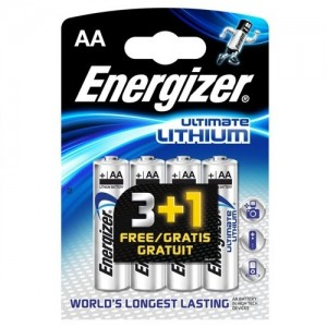 AA LR06 Pilha 1,5V ENERGIZER Ultimate Lithium (pack 4 unid)