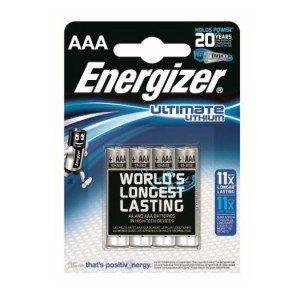 AAA (LR03) Pilha 1,5V ENERGIZER Ultimate Lithium (4 unid)
