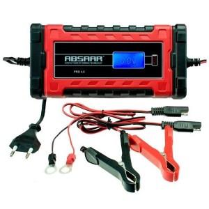 Carregador baterias chumbo, AGM, Gel e lítio LiFePO4 - 6V / 12V - 4A max (Absaar)