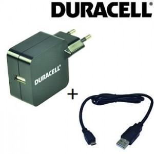 Carregador tomada 5v 2,4A + cabo micro USB (Duracell)