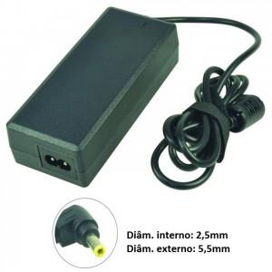 Carregador compatível para Asus, HP e Toshiba, 19V 65W