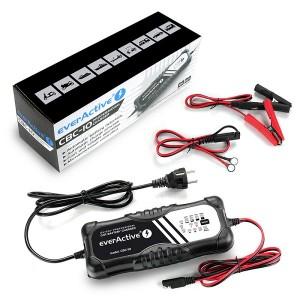 Carregador baterias chumbo, AGM e Gel - 12V / 24V - 10A max everActive CBC10