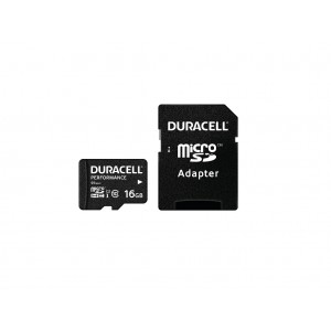 Cartão Duracell 16Gb micro SD Class 10 UHS-I U1 + adaptador SD