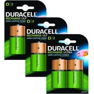 D (LR20) Pilha Recarregável Duracell 3000mAh (6 unid)