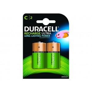 C (LR14) Pilha Recarregável Duracell 3000mAh (2 unid)