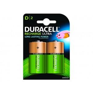 D (LR20) Pilha Recarregável Duracell 3000mAh (2 unid)