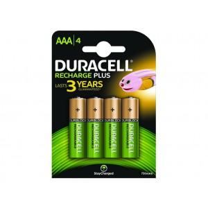 AAA (LR03) Pilha Recarregável Duracell 750mAh (4 unid)
