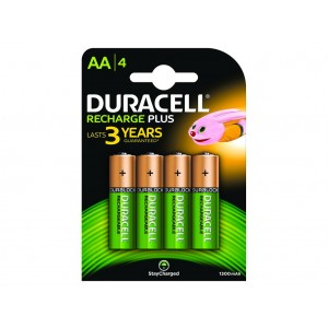 AA (LR06) Pilha Recarregável Duracell 1300mAh (4 unid)