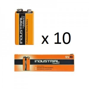 9v (6LR61) Pilha Alcalina Duracell Industrial (10 unid)