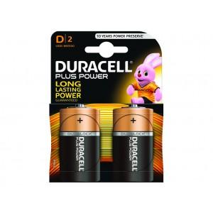 D (LR20) Pilha Alcalina Duracell Plus (2 unid)