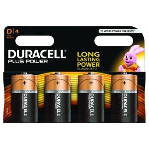 D (LR20) Pilha Alcalina Duracell Plus (4 unid)