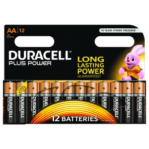 AA (LR06) Pilha Alcalina Duracell Plus (12 unid)