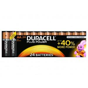 AA (LR06) Pilha Alcalina Duracell Plus (24 unid)