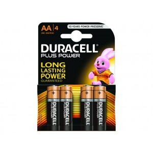 AA (LR06) Pilha Alcalina Duracell Plus (4 unid)