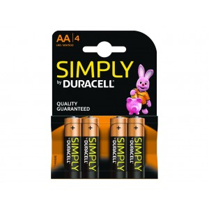 AA (LR06) Pilha Alcalina Duracell Simply (4 unid)