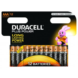 AAA (LR03) Pilha Alcalina Duracell Plus (12 unid)