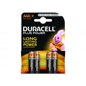 AAA (LR03) Pilha Alcalina Duracell Plus (4 unid)