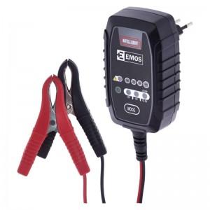 Carregador baterias chumbo, AGM, Gel e lítio LiFePO4 - 6V / 12V - 0.8A max (Emos)
