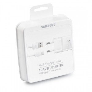 Carregador tomada Samsung Fast Charge 15W + cabo USB Type C