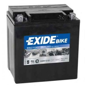Bateria mota EXIDE YIX30L Harley-Davidson CVO, Electra Glide, Road Glide, Road King, Street Glide,Tri Glide