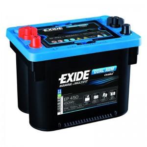 Bateria Dual 12V 50Ah 750A Arranque + Descarga EXIDE AGM